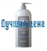 OLLIN Shampooing pour hommes rafraîchissant cheveux et corps, 1000 ml.